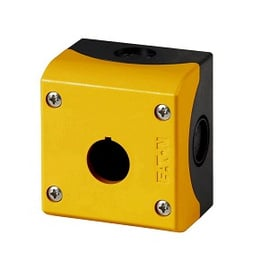 Caja amarilla, 1 perforación (uso con parada emergencia)