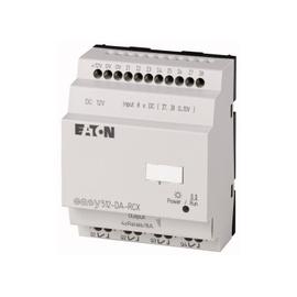 EASY500, Alimentación 12Vdc, 8DI (2 pueden ser análogas),  4DO tipo rele 10 Amps, reloj tiempo real