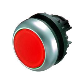 Botón luminoso rasante con enclavamiento, rojo