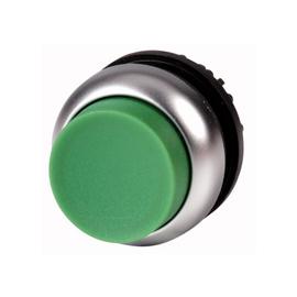 Botón saliente con enclavamiento, verde