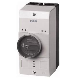 Caja para PKZM0, IP55, con mando rotatorio negro/gris