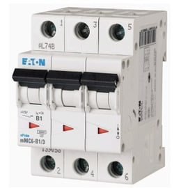 Interruptor Termomagnético 25A, 3 Polos, 6KA, Curva C