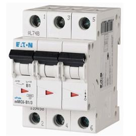 Interruptor Termomagnético 4A, 3 Polos, 6KA, Curva C