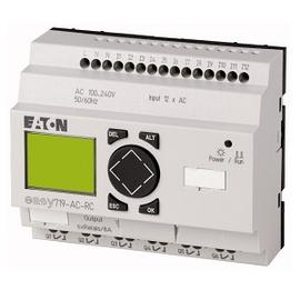 EASY700, Alimentación 100-240Vac, 12DI,  6DO Tipo relé 10A, pantalla y teclado, reloj tiempo real