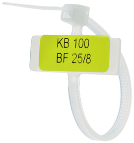 Amarra plastica c/identificacion 80x3mm