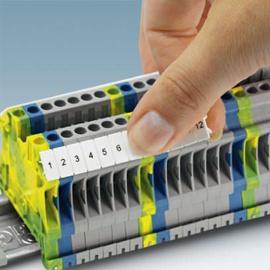 Marca para bornes 4mm