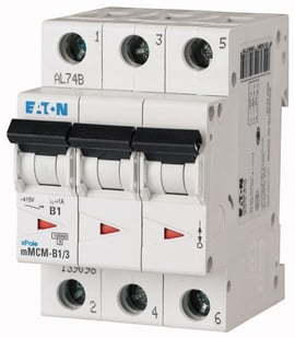 Interruptor Termomagnético 2A, 3 Polos, 10/15KA, Curva C
