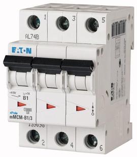 Interruptor Termomagnético 6A, 3 Polos, 10/15KA, Curva C