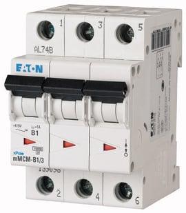 Interruptor Termomagnético 10A, 3 Polos, 10/15KA, Curva C