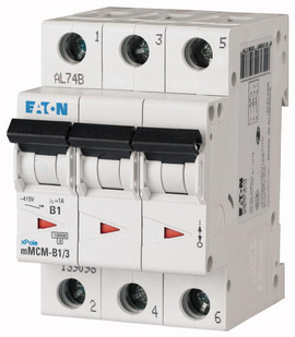 Interruptor Termomagnético 50A, 3 Polos, 10/15KA, Curva C
