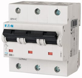 Interruptor Termomagnético 25A, 3 Polos, 25KA, Curva C