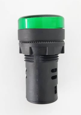 Pulsador verde, 1na 22mm
