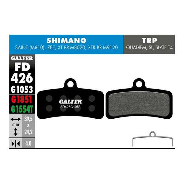Pastillas De Freno Galfer Standard Para Shimano Saint Zee