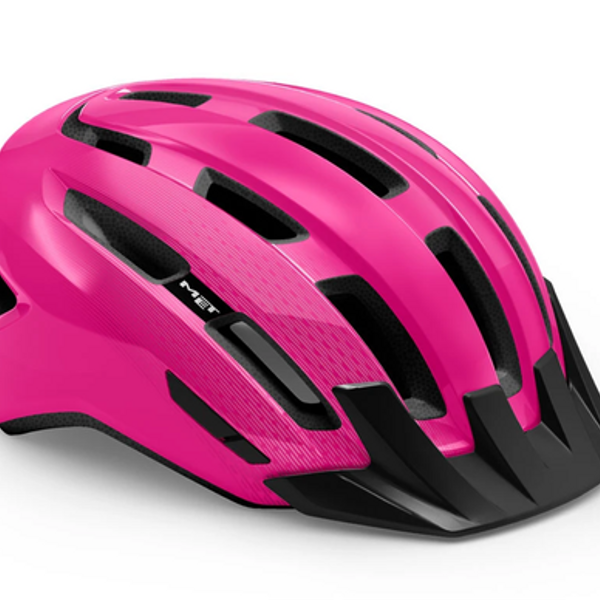Casco Met Downtown Mips Pink Glossy