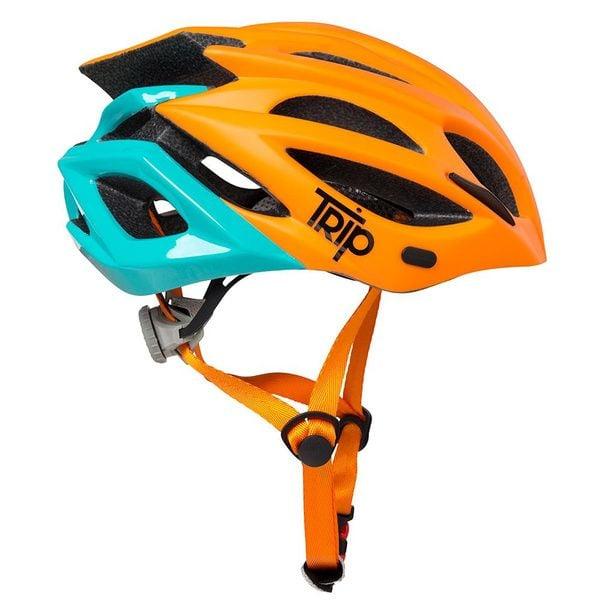 Casco Trip MTB Delirium Orange Blue