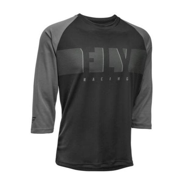 Jersey Fly Racing Ripa 3/4 Sleeve Black/ Charcoal Grey