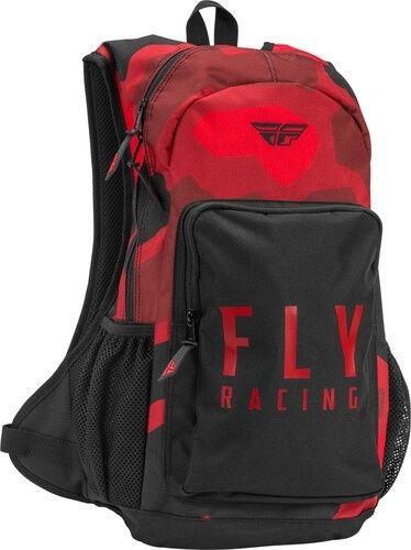 Mochila Fly Racing Jump Pack Roja Negra