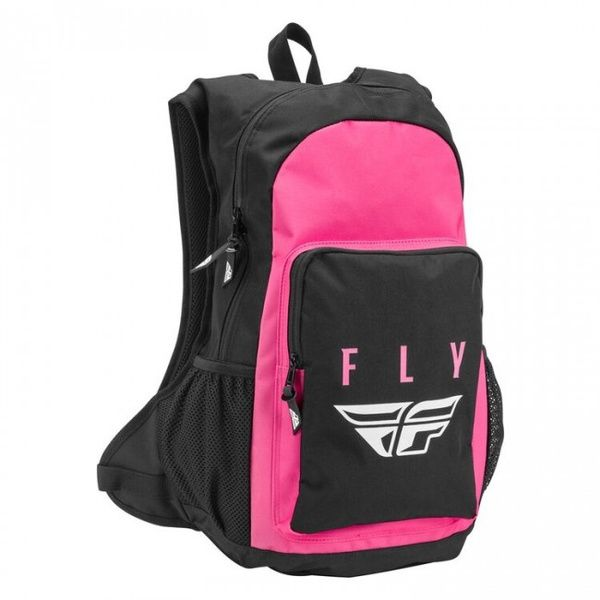 Mochila Fly Racing Jump Pack Rosada Negra