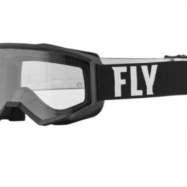 Antiparras Fly Racing Focus Negro Blanco