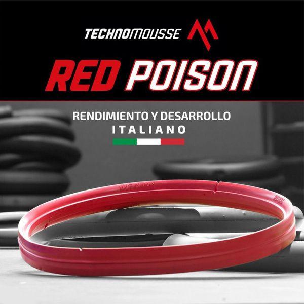 Protector De Llanta Mousse Mtb Red Poison 27.5 Rojo