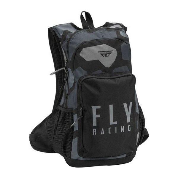 Mochila Fly Racing Jump Pack Gris Negra
