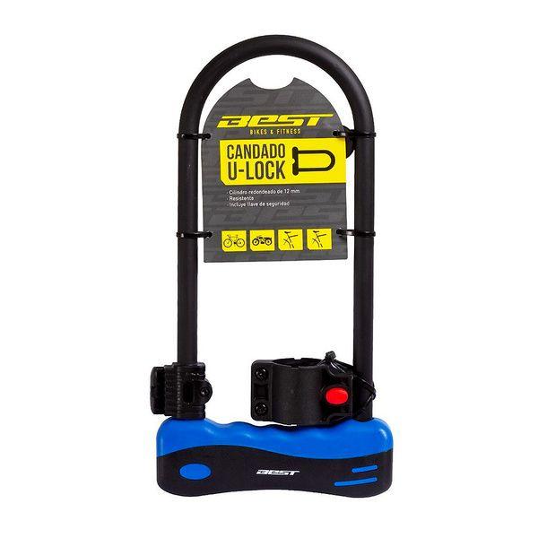 Candado U-Lock Best Azul Con Llaves 165x320mm