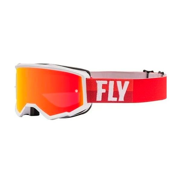 Antiparras Fly Racing Zone White/Red W/Red Mirror/Brown