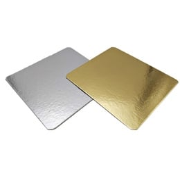 bandeja aluminizada Metal Free 16x20 cms. (Oro-Plata)