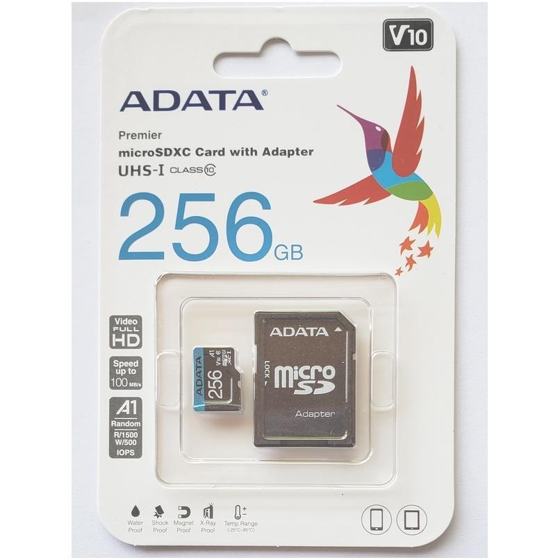 MEMORIA MICROSDXC 256GB ADATA PREMIER ONE, UHS-I CLASE 10