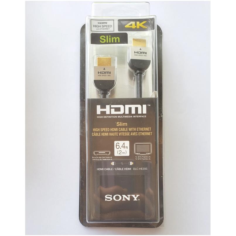 CABLE HDMI DELGADO SONY DLC HE20S SLIM DE ALTA VELOCIDAD, 2 M 4K ETHERNET
