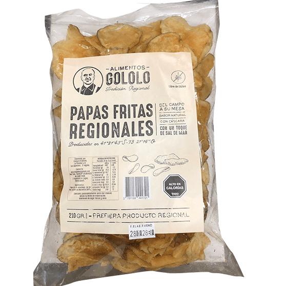 Papas Fritas Regionales Con Sal 210g