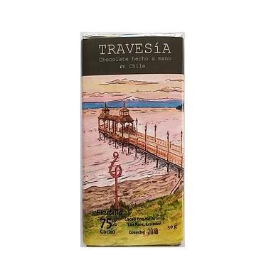 Chocolate Vegano 75% con Frutilla 50g