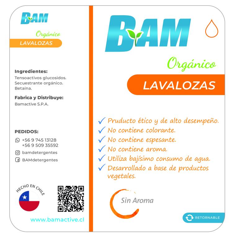 Detergente Lavalozas Desengrasante BAM