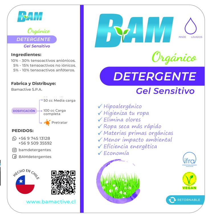 Detergente Ropa Líquido 1lt