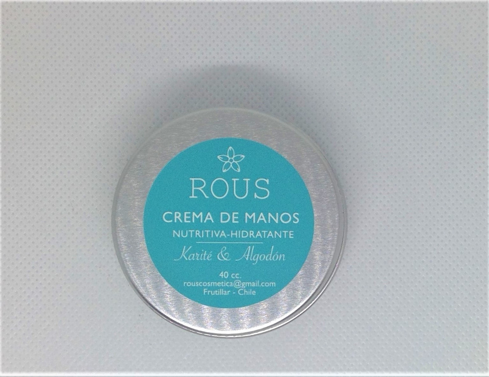 Crema de Manos Karite Algodon Rous
