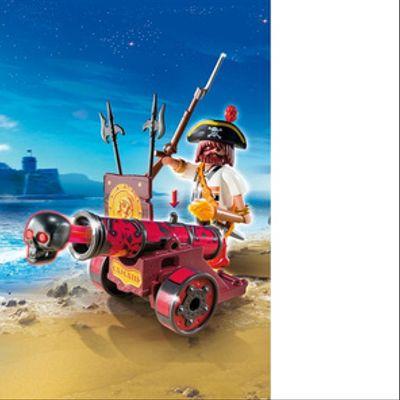 Playmobil Cañon Interactivo Rojo Con Bucanero