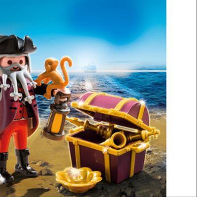 Playmobil Pirata Con Cofre Del Tesoro