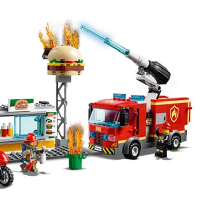 Rescate del Incendio en la Hamburguesería