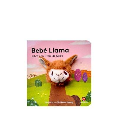 Libro con títere de dedo. Bebé Llama