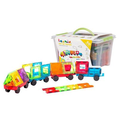 Imanix set trenes 50 piezas