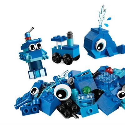 Ladrillos creativos azules
