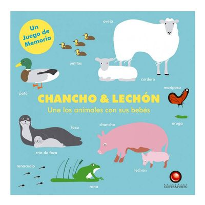 Chancho & lechón. Une los animales con sus bebés