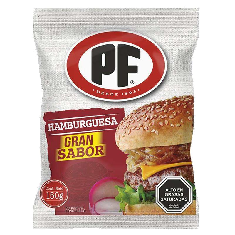 HAMBURGUESA DE VACUNO PF 150 g