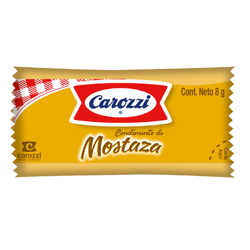 Mostaza sachet Carozzi 500 x 8 g