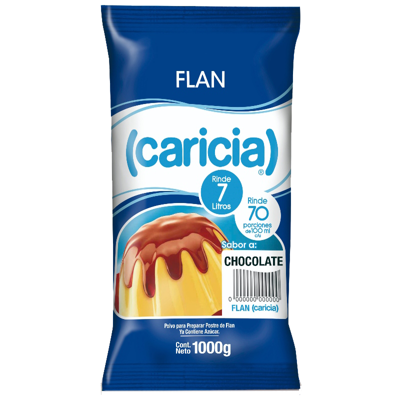 FLAN CHOCOLATE Caricia 1 Kg