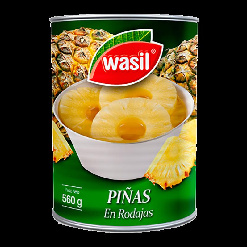 PIÑA EN RODAJAS WASIL 560 g