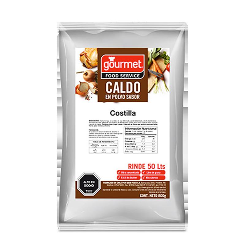 CALDO EN POLVO SABOR COSTILLA GOURMET 800 g