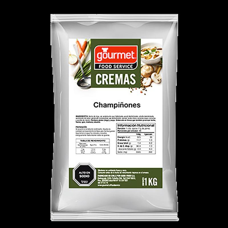 CREMA CHAMPIÑONES GOURMET 1 Kg