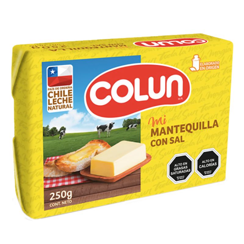 MANTEQUILLA CON SAL COLUN 250 g