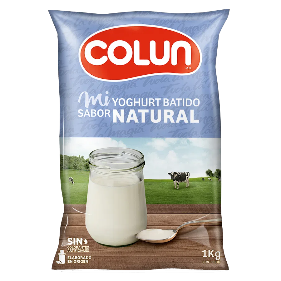 YOGURT NATURAL EN BOLSA COLUN 1 L
